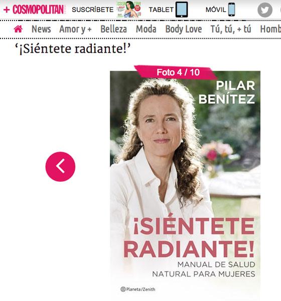 Cosmopolitan recomienda el libro ¡Siéntete Radiante!