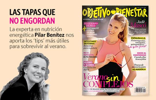 Pilar Benítez, en el número de julio de Objetivo Bienestar