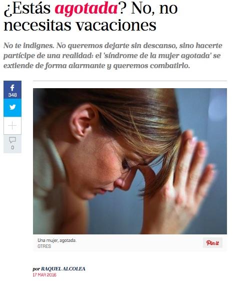 Entrevista a Pilar Benítez en mujerhoy