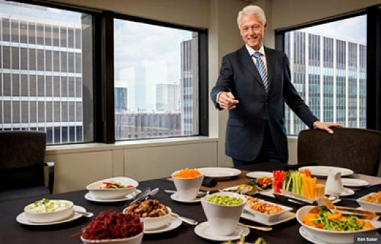 Bill Clinton ante su dieta