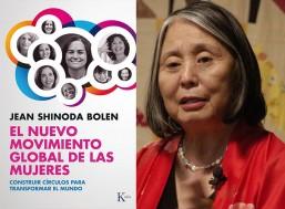 Jean Shinoda Bolen y la portada de su libro El nuevo movimiento global de las mujeres