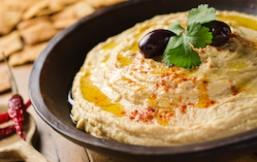 garbanzos en forma de hummus