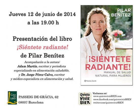 Invitación a la presentación del libro ¡Siéntete Radiante!