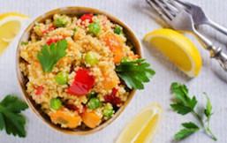 Quinoa con guisantes