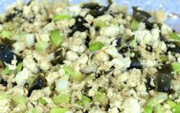 Revoltillo de tofu y wakame