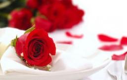 Rosa en los platos
