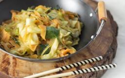 Wok de verduras al aroma de umeboshi